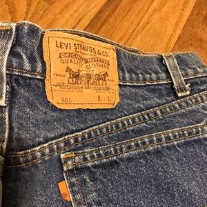 VTG Levi's Jeans Men's Orange Tab 505 Size 40 X 32